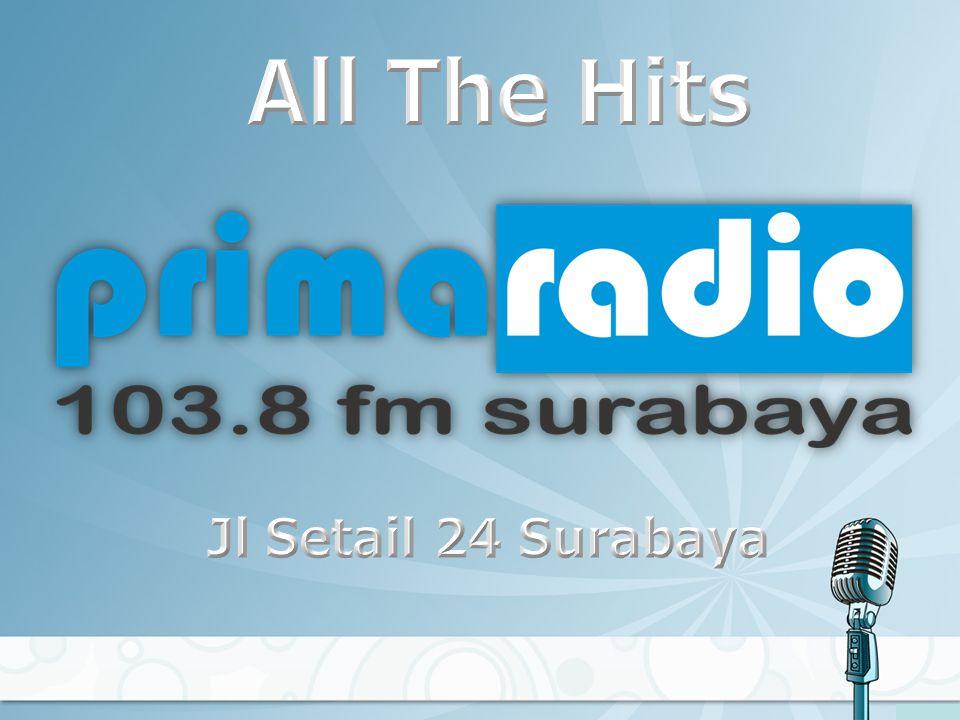 Perusahaan: PT RADIO RAJAWALI MEGAH Frekuensi: 103'8 MHz Coverage: Greaters Surabaya Raya Alamat: Jl.