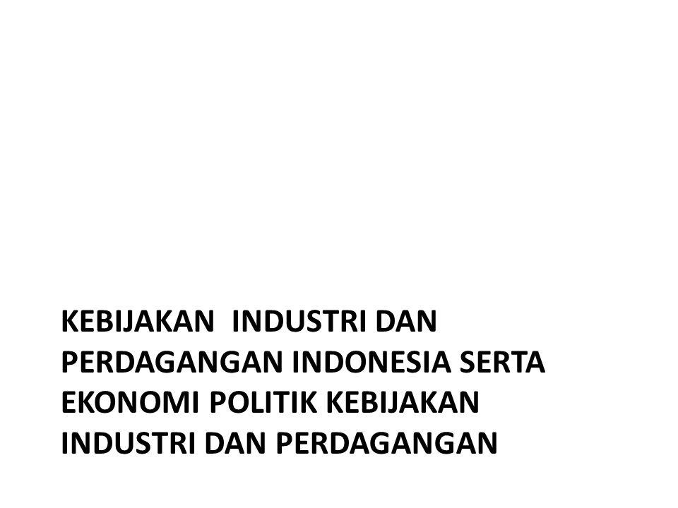 ISU DAN KEBIJAKAN INDUSTRI DAN PERDAGANGAN INDONESIA