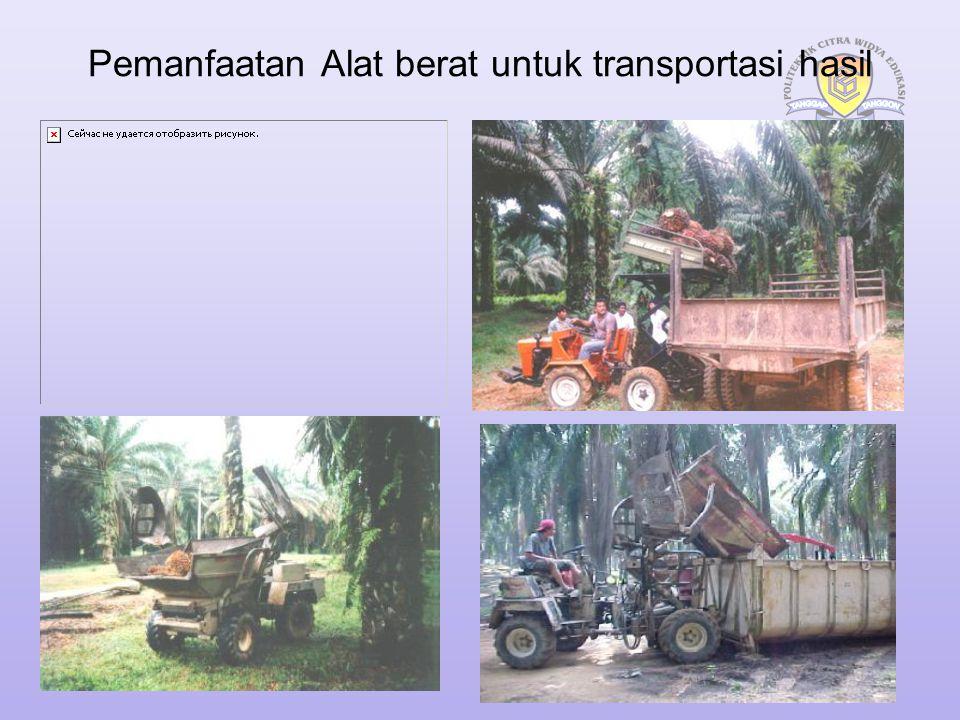 Pengorganisasian Alat Transpor Bertujuan untuk kelancaran proses pengangkutan buah baik dari lapangan ke TPH maupun dari TPH ke Pabrik Staff Transport Staff Agronomy Mandor Transport Krani panen/ Transport Sopir/ Operator