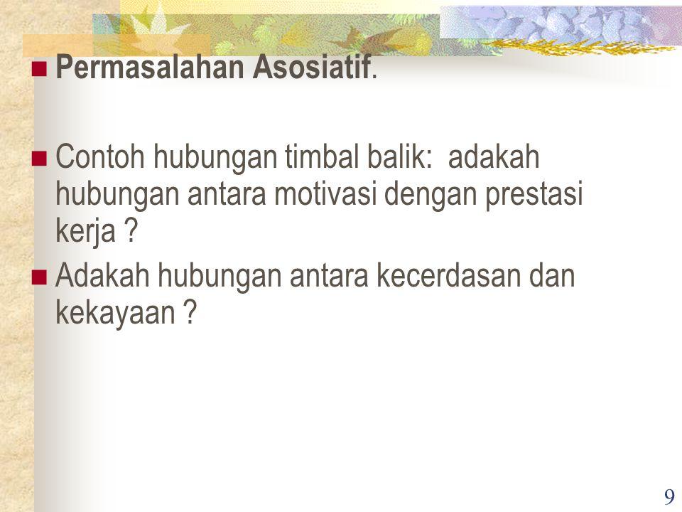 9 Permasalahan Asosiatif.