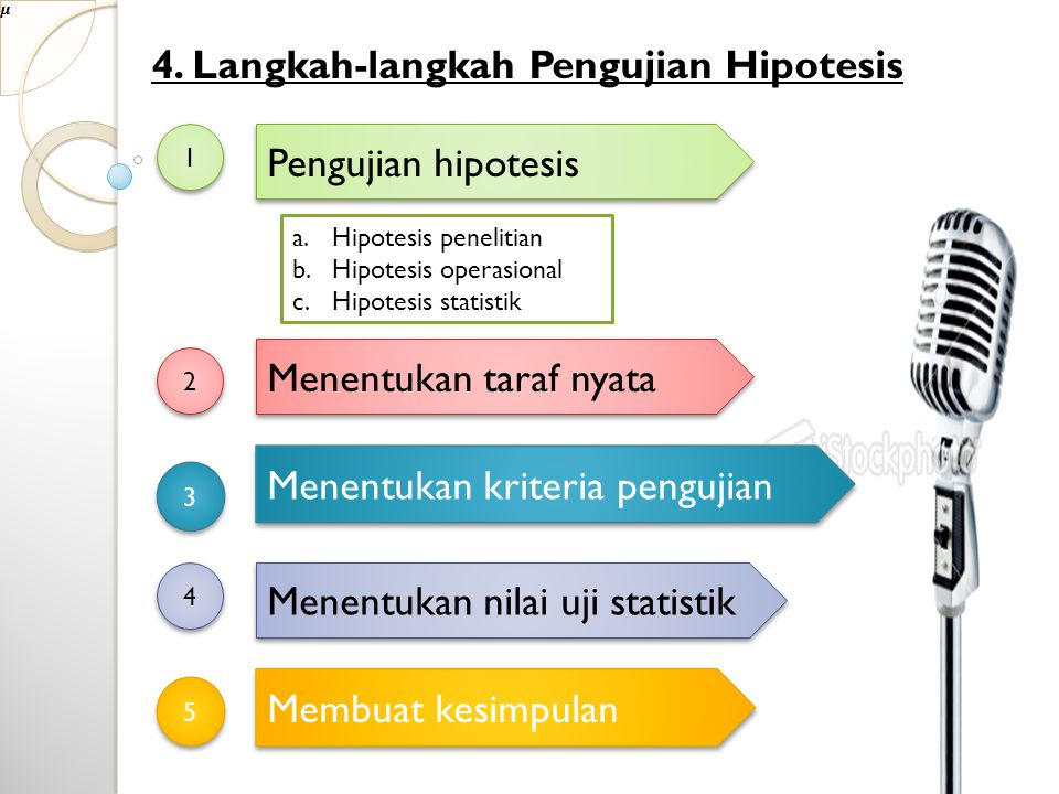 5.Cara Menguji Hipotesis a. Menguji Hipotesis rata-rata b.