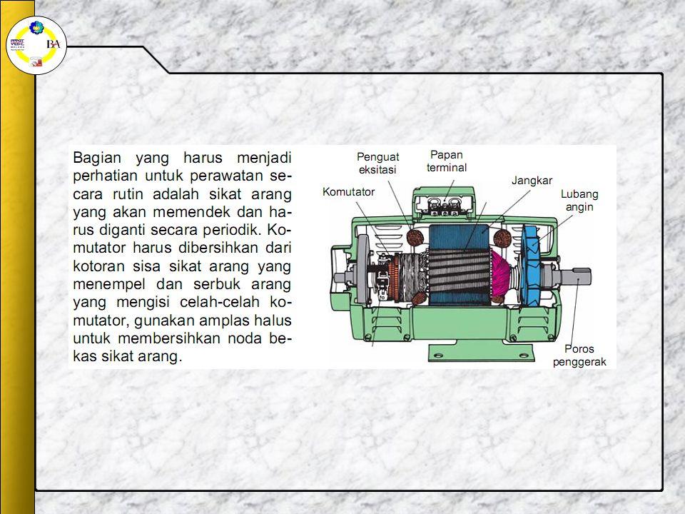 Prinsip kerja Generator DC Pembangkitan tegangan induksi oleh sebuah generator diperoleh melalui dua cara: 1)dengan menggunakan cincin-seret; 2)dengan menggunakan komutator.