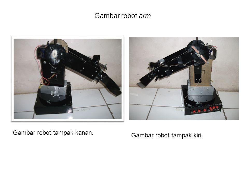 Gambar robot arm Gambar robot tampak kanan. Gambar robot tampak kiri.