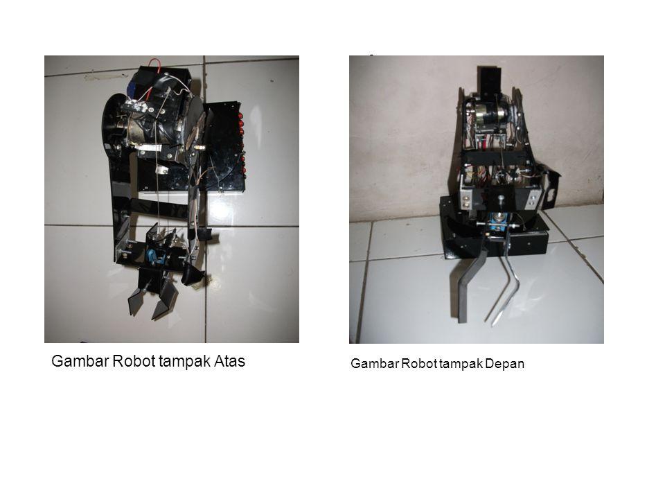 . Gambar Robot tampak Atas Gambar Robot tampak Depan
