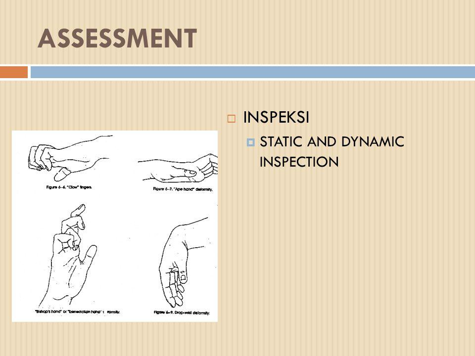 BEBERAPA TEST KHUSUS LAIN :  FROMENS TEST Menjepit kertas dg ibu jari dan sisi lateral telunjuk, bila kertas ditarik, terjadii flexion IP lesi N.