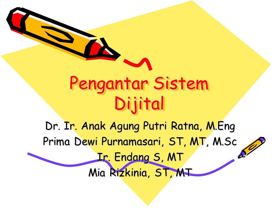 Pendahuluan Mata kuliah : Pengantar Sistem Dijital SKS: SKS : 2 Semester : 1 Staf Pengajar : 1.