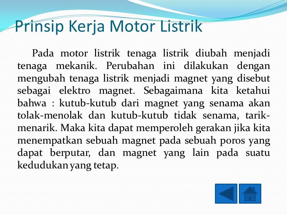 Generator Listrik Generator listrik adalah sebuah alat yang memproduksi energi listrik dari sumber energi mekanik, biasanya menggunakan induksi elektromagnetik.