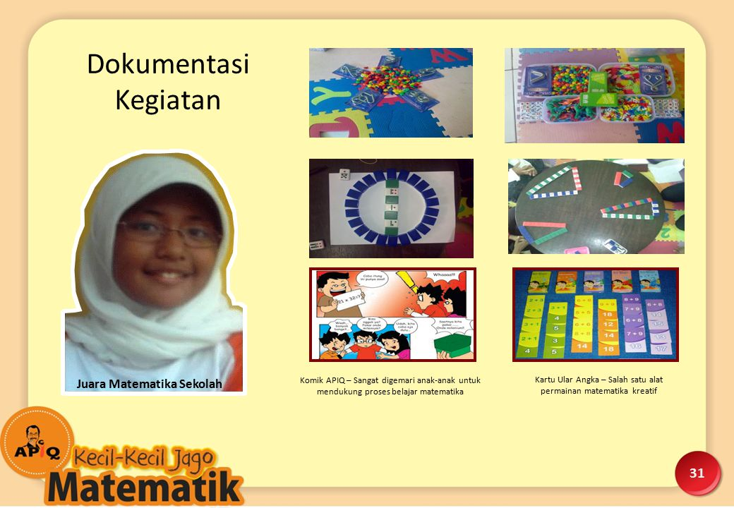 Juara Matematika Sekolah Komik APIQ – Sangat digemari anak-anak untuk mendukung proses belajar matematika Kartu Ular Angka – Salah satu alat permainan
