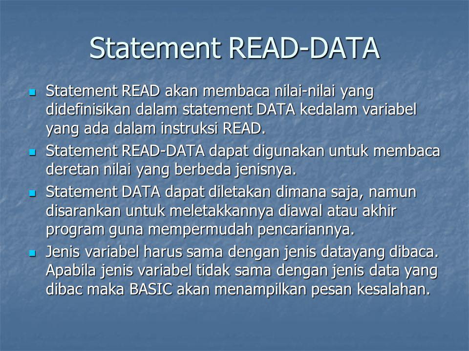 Jumlah data harus sama atau lebih besar dari jumlah variabel.