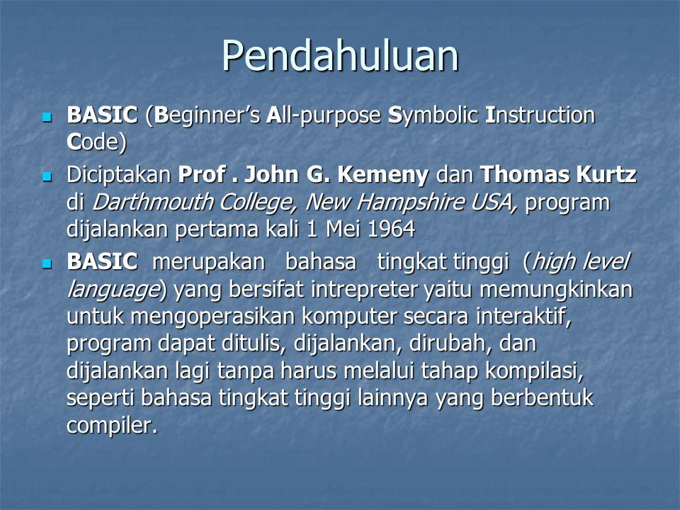 Modus operasi pada BASIC 1.