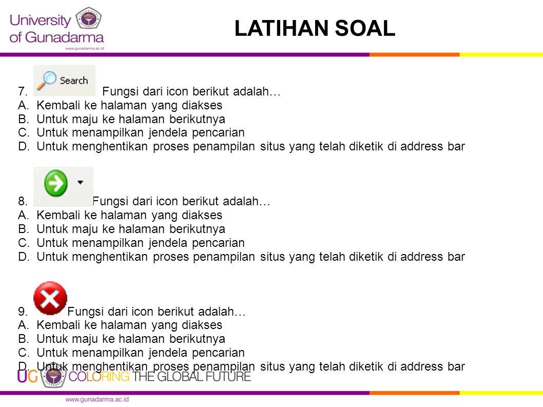LATIHAN SOAL 7.
