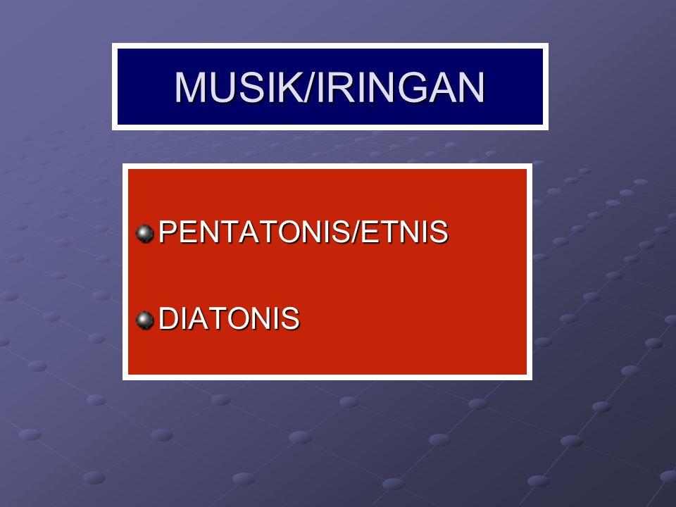 MUSIK PENTATONIS (KARAWITAN JAWA) Karawitan adalah: Ekspresi jiwa manusia yang diungkapkan melalui media suara baik vokal maupun instrumental yang berlaraskan slendro atau pelog.