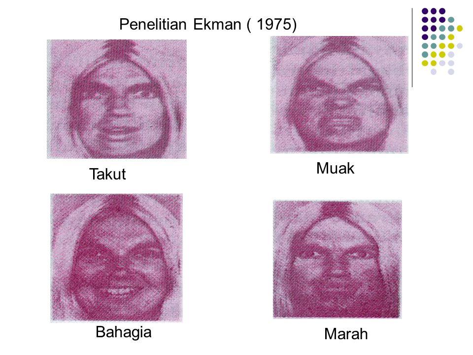 Takut Muak Bahagia Marah Penelitian Ekman ( 1975)