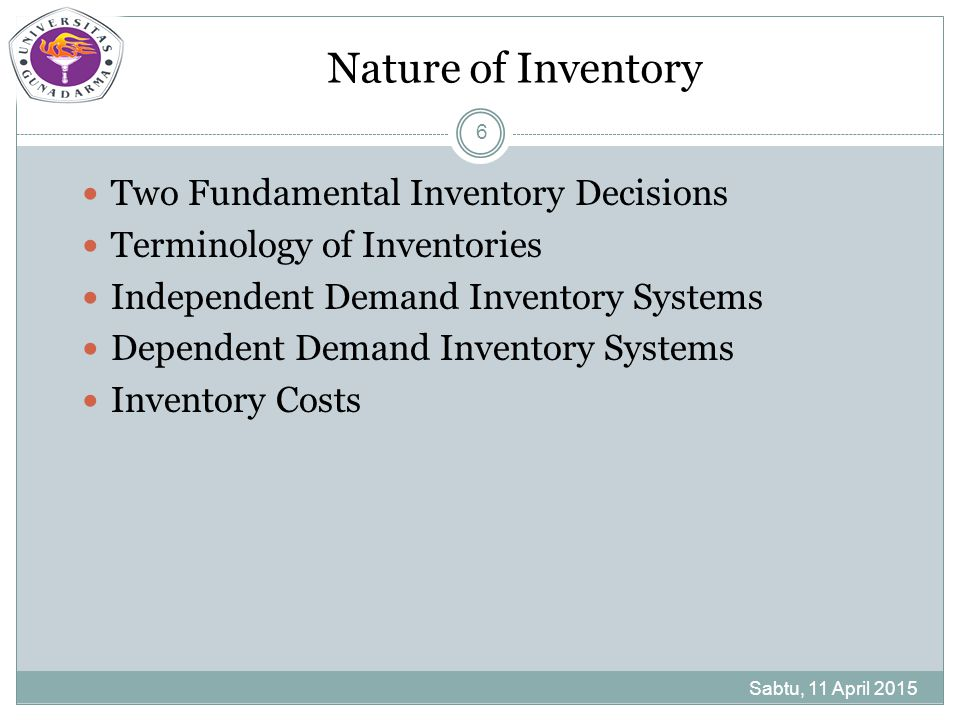 Model Persediaan Lainnya Hybrid Inventory Models Single-Period Inventory Models Sabtu, 11 April 2015 37