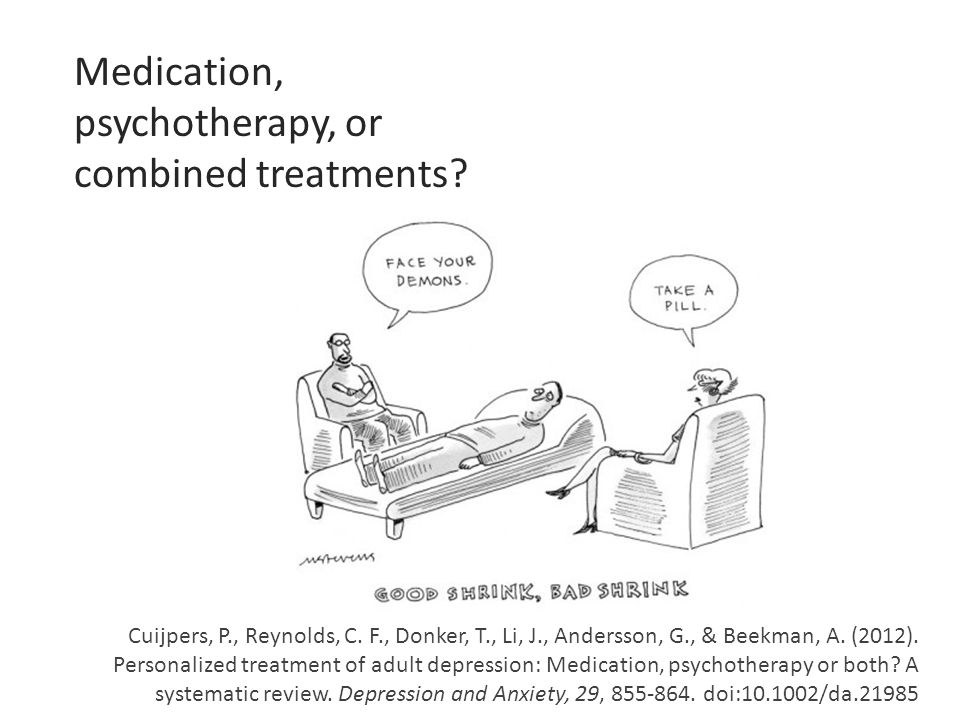 Cuijpers, P., Reynolds, C. F., Donker, T., Li, J., Andersson, G., & Beekman, A. (2012). Personalized treatment of adult depression: Medication, psycho