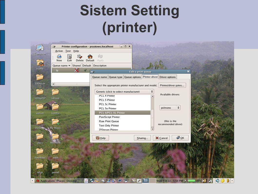 Sistem Setting (printer)