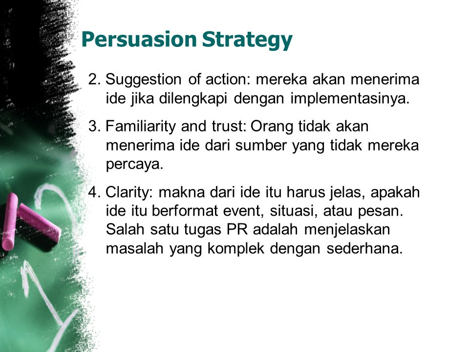 Persuasion Strategy 2.