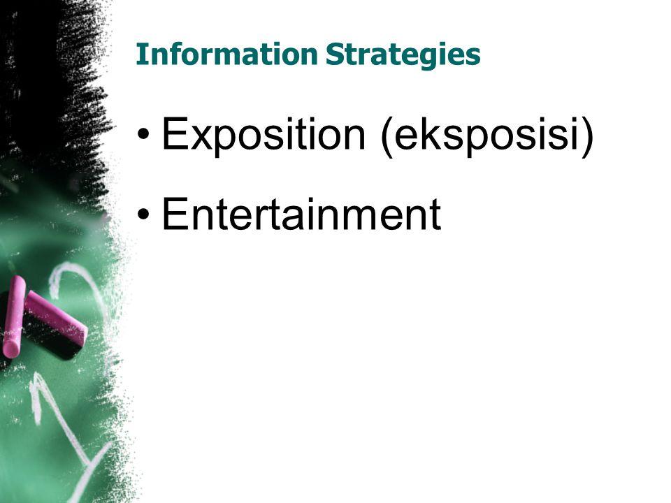 Eksposisi Narration/story telling (narasi/bertutur) Ini merupakan gaya paling natural dalam komunikasi antarmanusia.