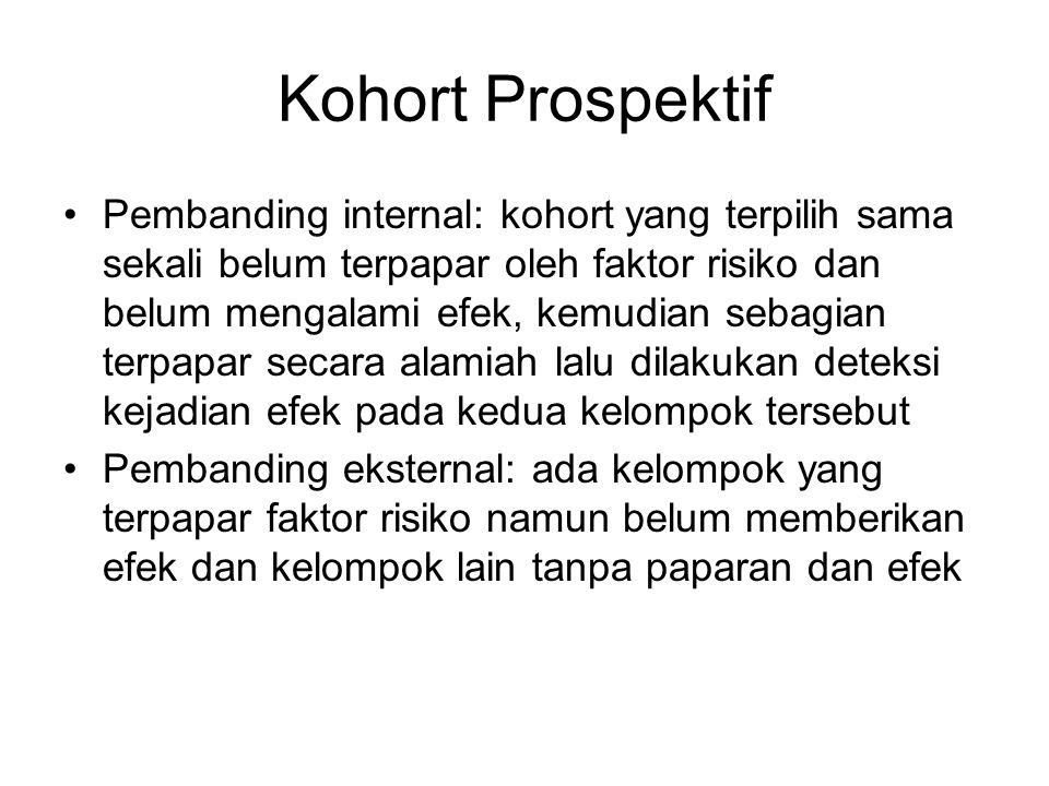 Skema Studi Kohort