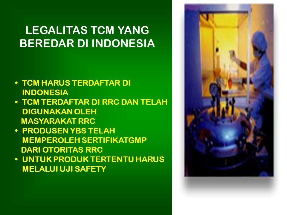 OBAT TRADISIONAL CINA DI INDONESIA TCM TELAH CUKUP LAMA BEREDAR DI INDONESIA DIGUNAKAN OLEH SEBAGIAN MASYARAKAT NILAI PEREDARAN TCM DI INDONESIA 10% D