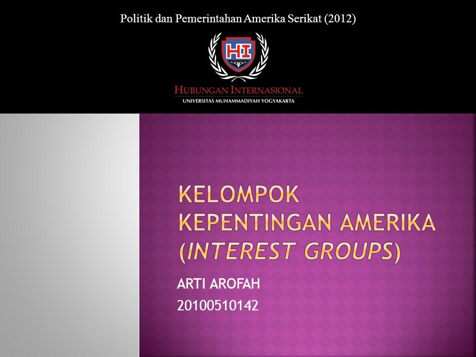 ARTI AROFAH 20100510142 Politik dan Pemerintahan Amerika Serikat (2012)