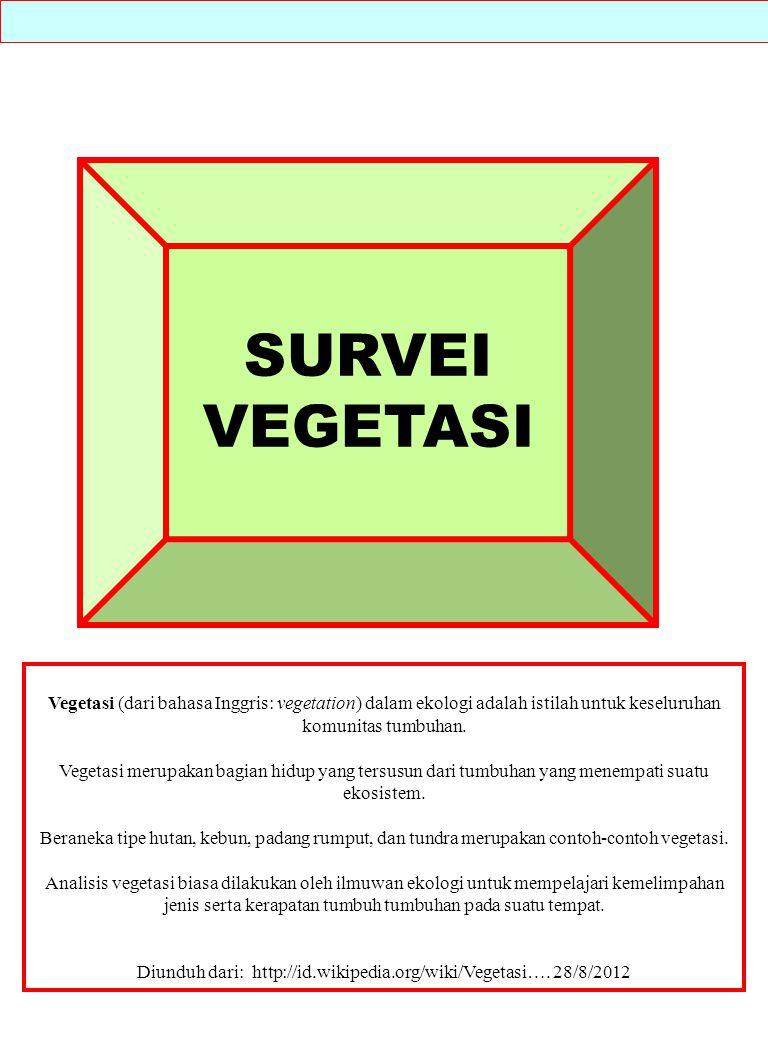 Vegetasi (dari bahasa Inggris: vegetation) dalam ekologi adalah istilah untuk keseluruhan komunitas tumbuhan. Vegetasi merupakan bagian hidup yang ter
