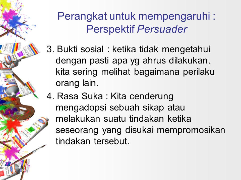 Perangkat untuk mempengaruhi : Perspektif Persuader 4.