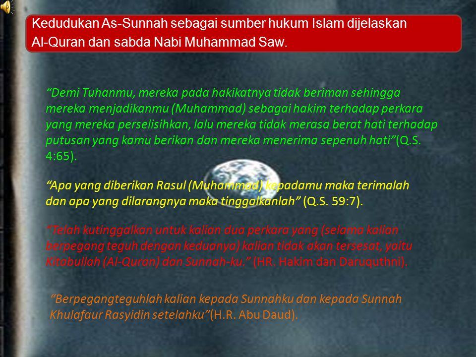 As-Sunnah Penjelas Al-Qur'an Penafsir Al-Qur'an Kedudukan As-Sunnah