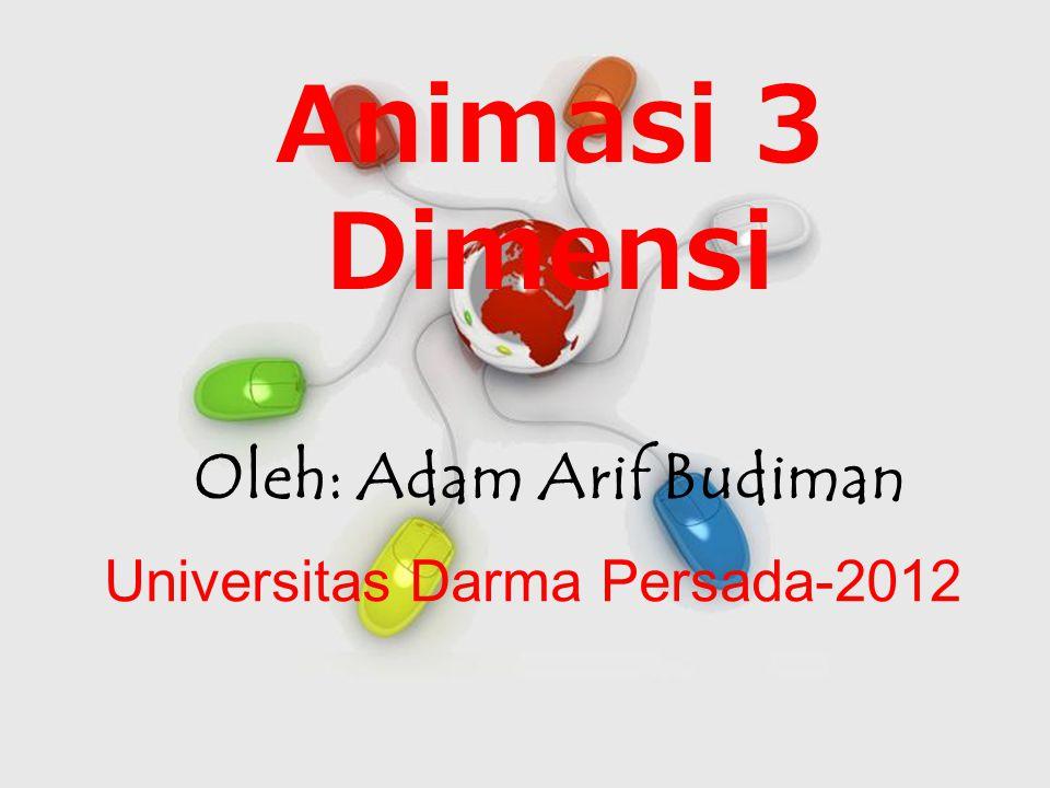 Free Powerpoint Templates Page 1 Free Powerpoint Templates Animasi 3 Dimensi Oleh: Adam Arif Budiman Universitas Darma Persada-2012