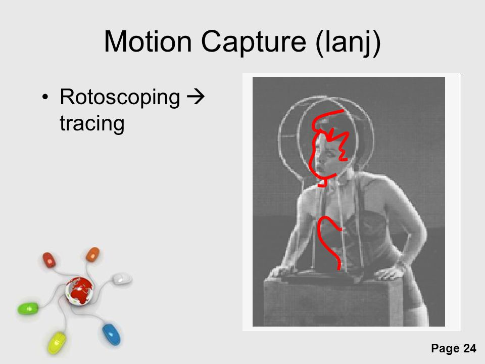 Free Powerpoint Templates Page 24 Motion Capture (lanj) Rotoscoping  tracing