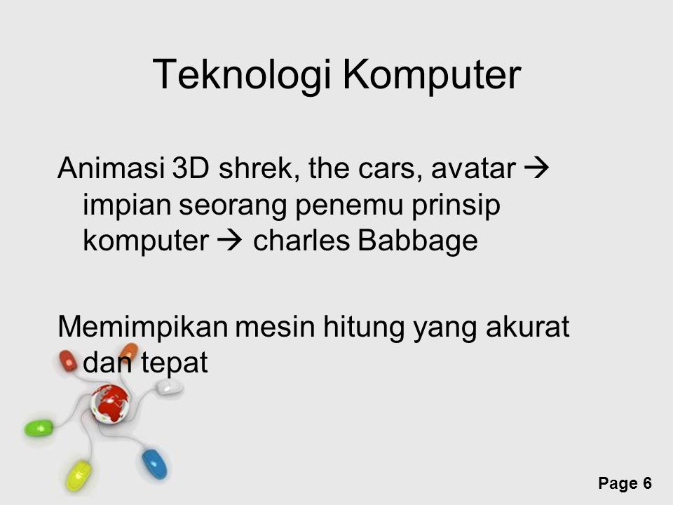 Free Powerpoint Templates Page 7 Mesin hitung charles babbage