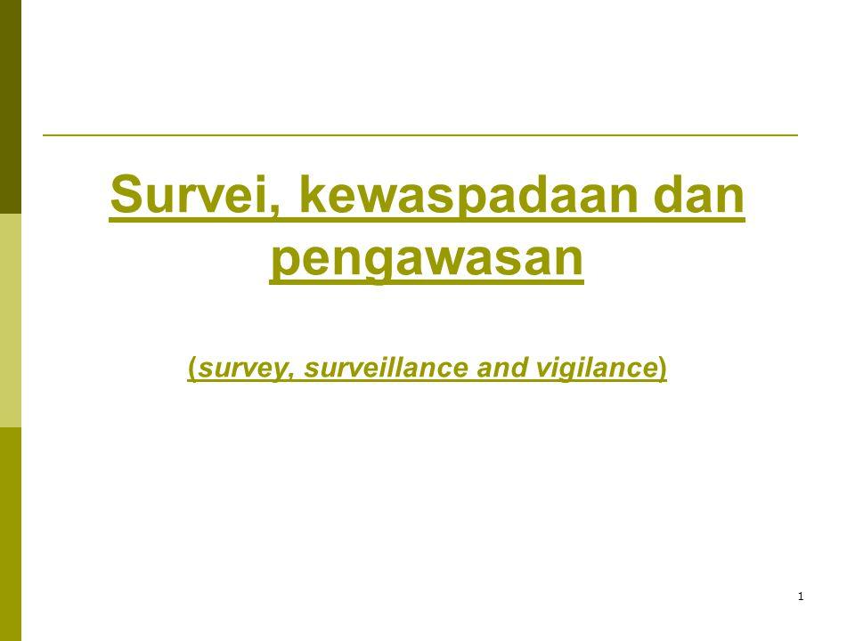 1 Survei, kewaspadaan dan pengawasan (survey, surveillance and vigilance)