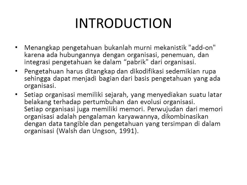 INTRODUCTION Menangkap pengetahuan bukanlah murni mekanistik