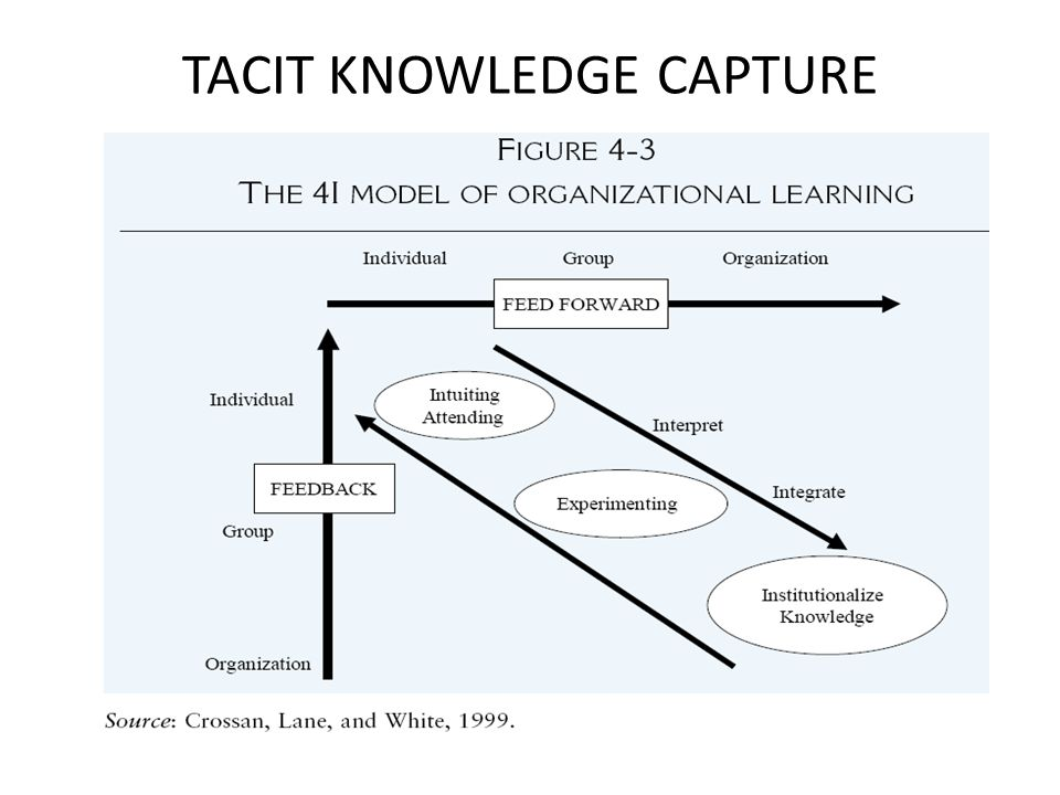 TACIT KNOWLEDGE CAPTURE