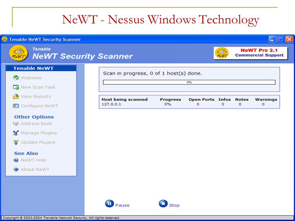 NeWT - Nessus Windows Technology