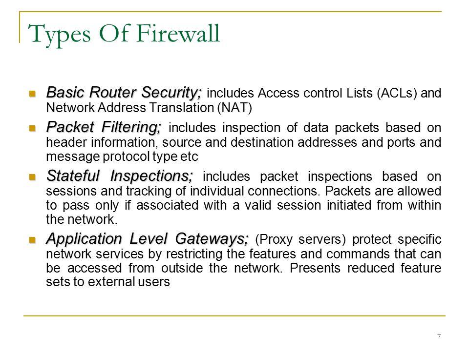 8 FIREWALLS VS IDSs