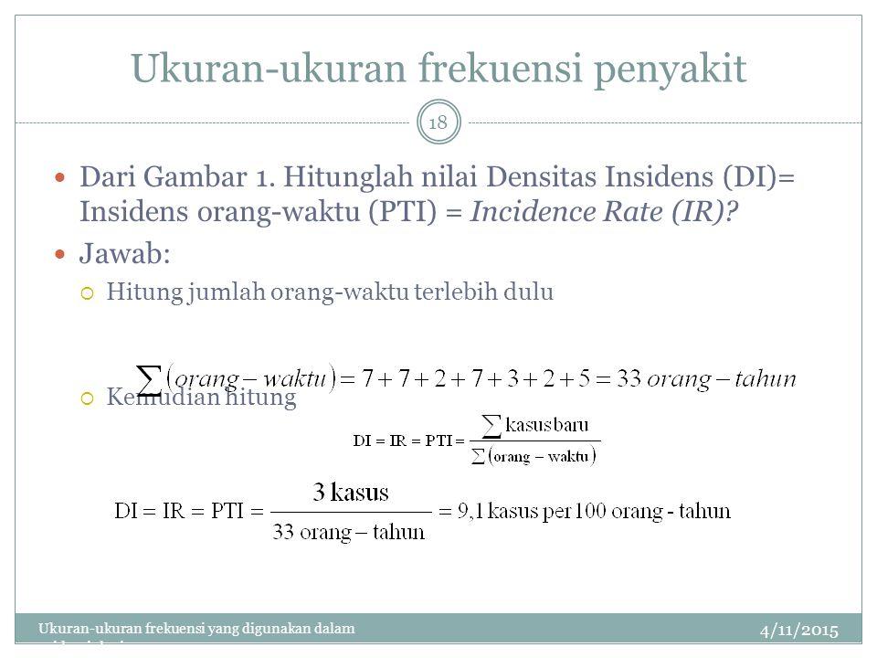 Ukuran-ukuran frekuensi penyakit Dari Gambar 1.