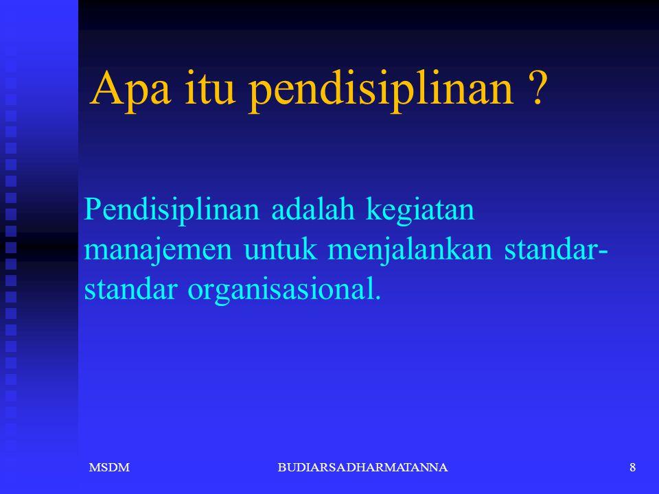 """Ketegasan """" Pimpinan harus tegas dan berani bertindak utk menghukum karyawan yg tidak ber- disiplin"""" Hubungan Kemanusiaan """"Hubungan kemanusiaan yang h"""