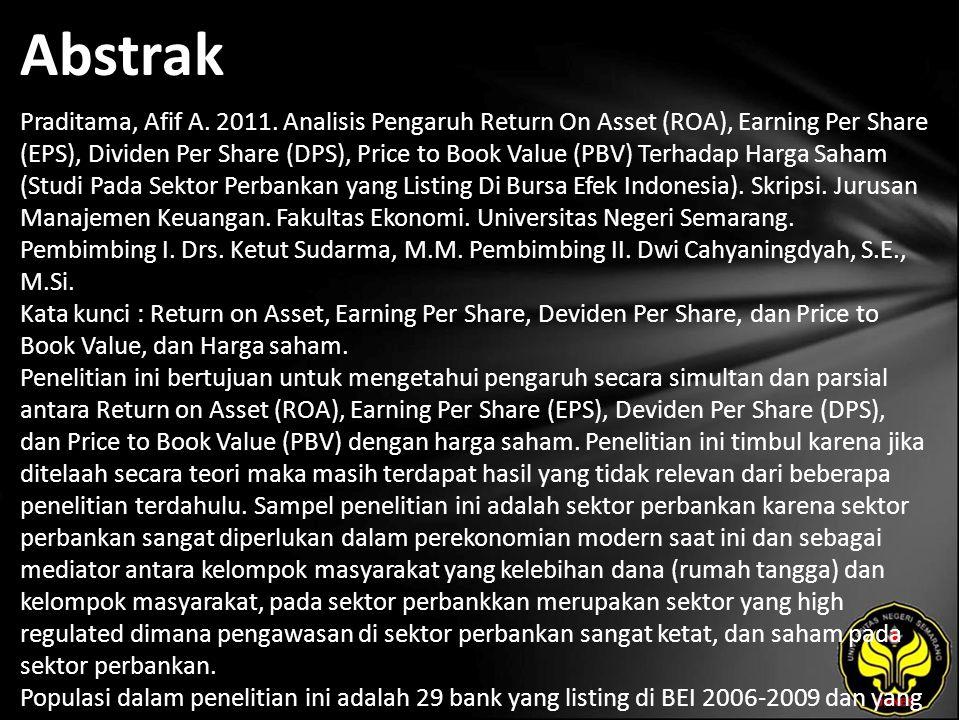 Abstrak Praditama, Afif A. 2011.