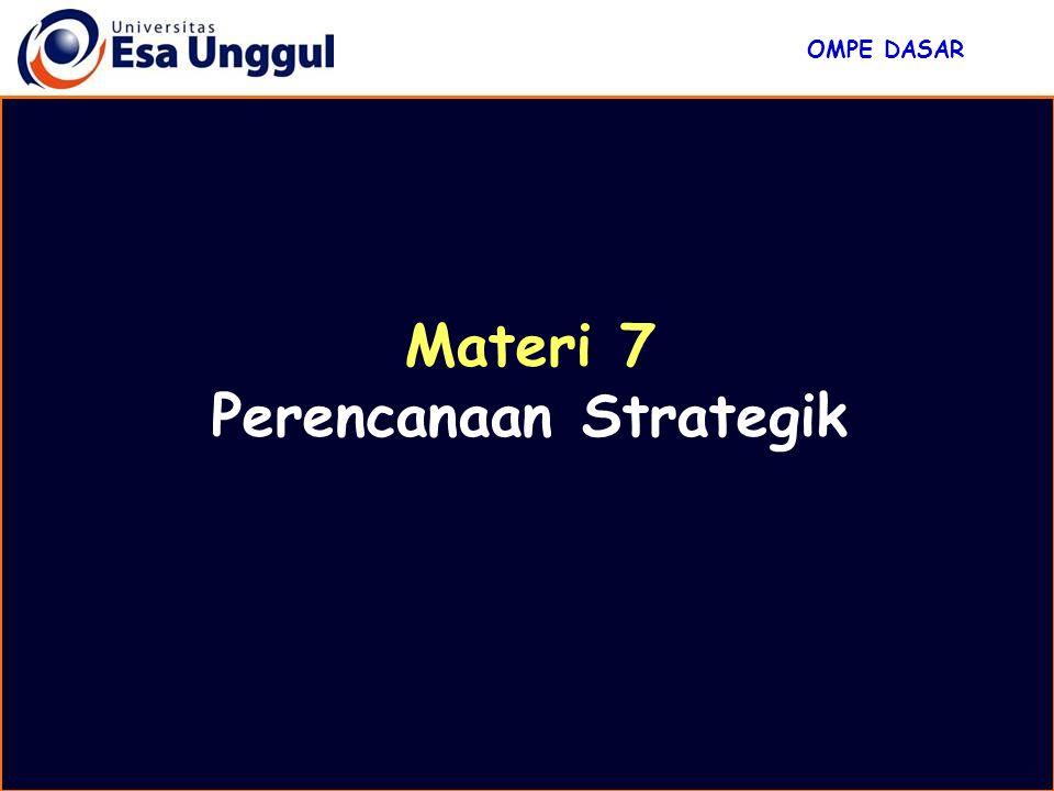 Materi 7 Perencanaan Strategik OMPE DASAR