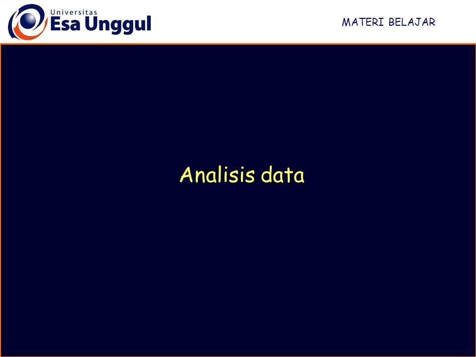 MATERI BELAJAR Analisis data