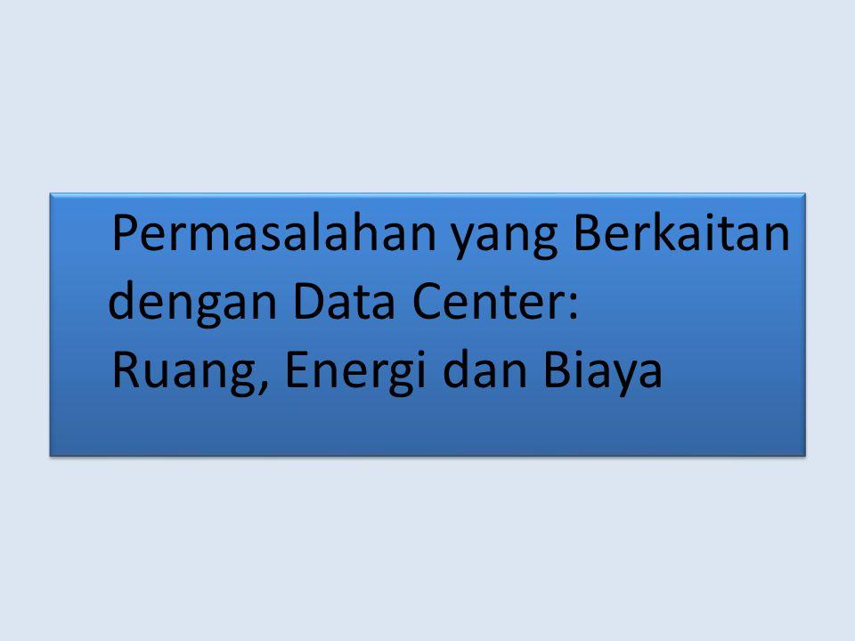 Permasalahan yang Berkaitan dengan Data Center: Ruang, Energi dan Biaya Permasalahan yang Berkaitan dengan Data Center: Ruang, Energi dan Biaya