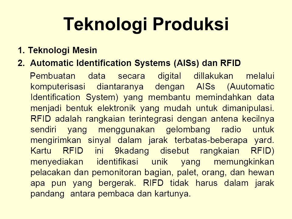 Teknologi Produksi 1.Teknologi Mesin 2.