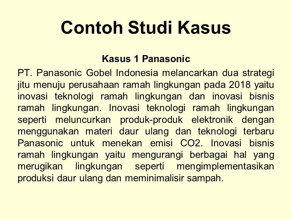 Contoh Studi Kasus Kasus 1 Panasonic PT.