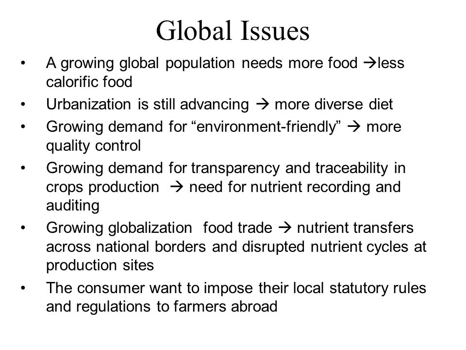 The Relevant Applies for The Agriculture Changes Cropping area is declining  need for increasing productivity to compensate for land loss Declining access to irrigation water  need for cropping pattern and specific variety Increasing land degradation and declining water table Declining land productivity  need to replenish soil nutrient reserves Problem of high degree of wastage of agricultural produce Emerging competition for land  food vs estate crops, energy vs food crops Labor shortage  need to develop low inputs, mechanization