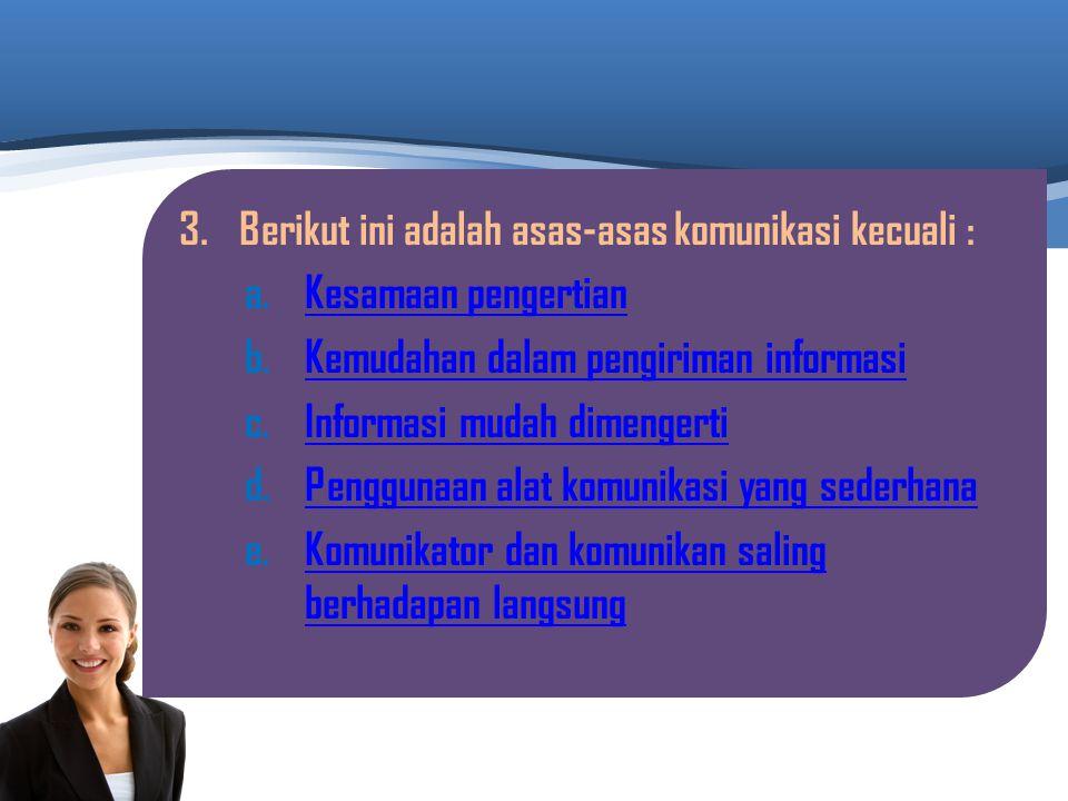 2.Berikut ini adalah contoh media komunikasi visual : a.MajalahMajalah b.RadioRadio c.TeleponTelepon d.TelevisiTelevisi e.HandphoneHandphone