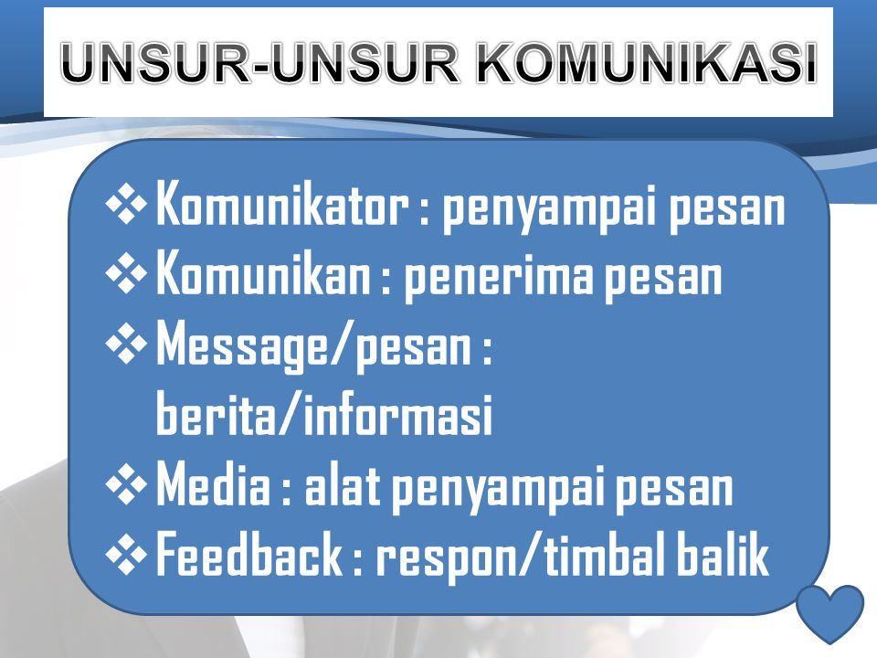 Jadi komunikasi adalah proses penerimaan atau penyampaian berita/informasi dari pengirim (komunikator) kepada pihak lain (komunikan) dalam usaha untuk mendapatkan saling pengertian.
