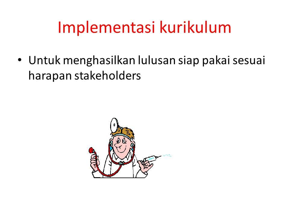 Implementasi kurikulum Untuk menghasilkan lulusan siap pakai sesuai harapan stakeholders