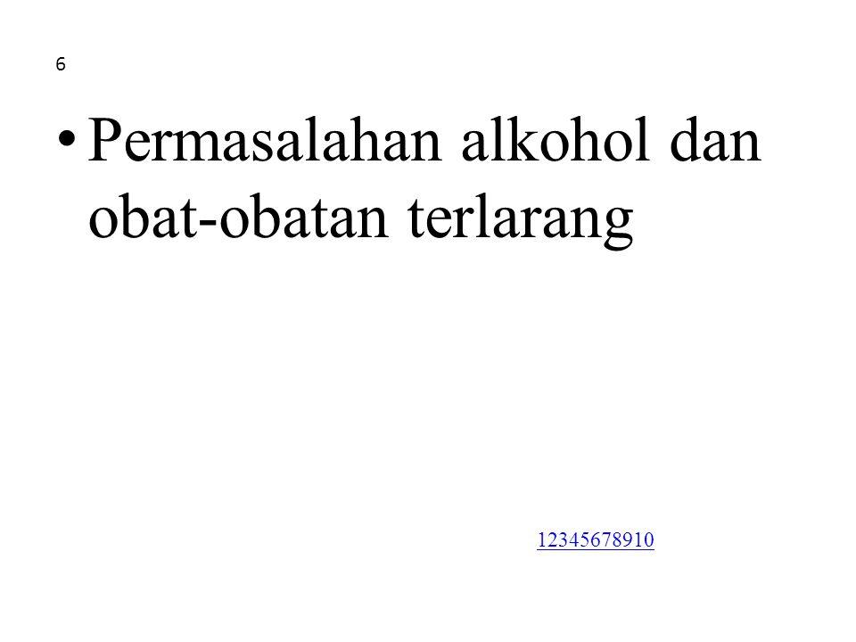 Permasalahan alkohol dan obat-obatan terlarang 6 12345678910