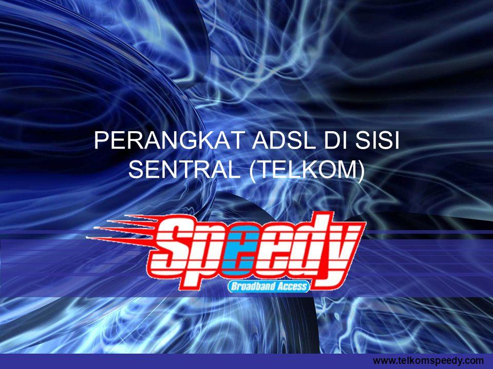 www.telkomspeedy.com PERANGKAT ADSL DI SISI SENTRAL (TELKOM)